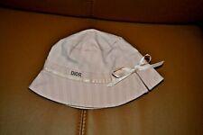 baby dior chapeaux NEUF  double rose avec noeud 3 mois 85 eu
