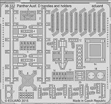 Eduard 1/35 Panther Ausf.D Handles and Holders # 36332