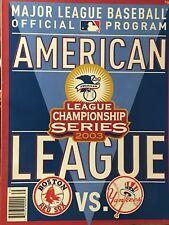 New York Yankees 2003 ALCS Championship Program Vs Red Sox
