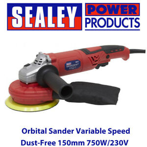 Sealey DAS151 Random Orbital Sander Variable Speed Dust-Free 150mm 750W/230V