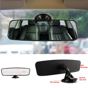 24*6.5cm Car Interior HD Rear View Mirror Adjustable Angle with Suction Cup 1PC