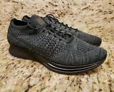 310e0a281d4f5 New Nike Flyknit Racer Triple Black Trainer 526628-009 Men s Sz 5.5 Women s  ...