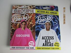 Music Festival Rain Rave Party Poncho Novelty Slogan Groupie! Adult One Size