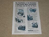 Revox Open Reel Ad, 1975, History, Dynavox, A36, D36, A77 Mk 1, A700, Mk IV
