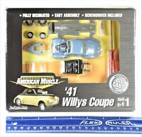 Ertl American Muscle '41 Willys Coupe 1-64 Die Cast Model Kit  2000 NEW SEALED