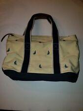 Vintage L L Bean Zippered Canvas Tote Bag w/sailboat graphics bo 00006000 at