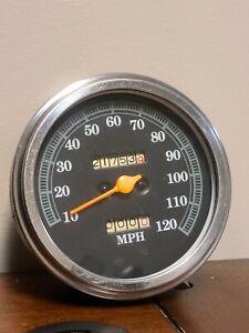 Custom Harley Davidson Softail Speedometer 120 MPH
