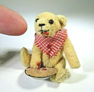 vtg miniature TEDDY BEAR dollhouse artist Odette Conley TIGGY WINKLE Messy Pie