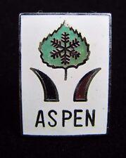 Vintage ASPEN Skiing Pin Ski Resort Pinback