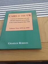 Cars In The UK Volume Two 1971 To 1995 By Graham Robson