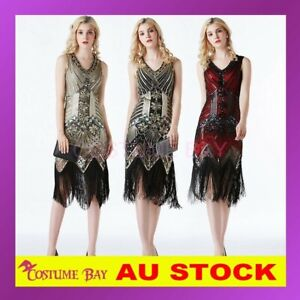 Deluxe 1920s 20's Charleston Vintage Great Gatsby Flapper Costume Sequin Dress
