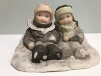 Anderson 1997 Pretty As A Picture Enesco Snow Where Else I'd Rather Be Figurine