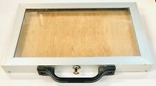 Aluminum Jewelry Display Case Portable Locking 18 X 12 X 15
