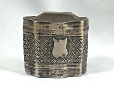 Vintage Dutch Sterling Hinged Spice Wedding Box-Etched Design