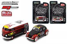 Greenlight 1:64 VW Beetle & Samba Van Set of 2 Gas Monkey Garage 51080 Die-Cast