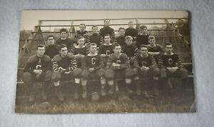 Circa 1910 CHAMBERSBURG PENNSYLVANIA FOOTBALL TEAM Real Photo Postcard RPPC Nice