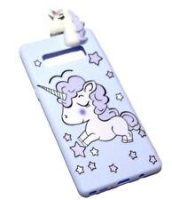 For Samsung Galaxy NOTE 8 - Blue Cute Unicorn Stars Soft Rubber Silicone 4D Case