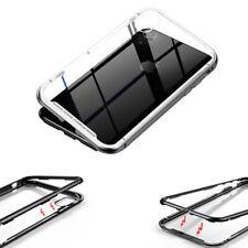 Baseus Premium Magnet Schutz Hülle Tasche iPhone Xr Metall Outdoor Cover silber