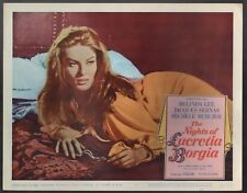 BELINDA LEE THE NIGHTS OF LUCRETIA BORGIA  ORIG 11X14 LOBBY CARD  LC2085
