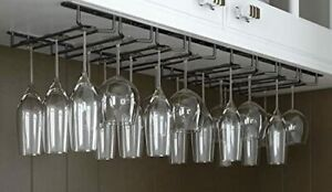 It's Useful. Under Cabinet Hanging Stemware Rack - Hold Up To 24 Wine Glasses