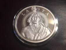 5 oz Jumbo AOCS # Proof LAKOTA INDIAN .999 Silver Crazy Horse