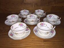 Tirschenreuth Bavaria Queensrose ~ Cups & Saucers (5 Sets) ~ Excellent