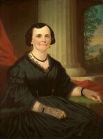 Oil painting george caleb bingham - Mrs. Benoist female portrait hand painted @@