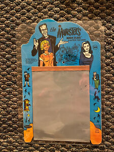 Vintage 1965 Whitman The Munsters Magic Slate Paper Saver Blue & Orange Version!