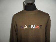 vintage NAF NAF league sweatshirt pullover 90s oldschool sweater braun L