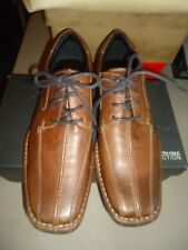Kenneth Cole Reaction Brown Punch Line Mens Leather Shoes 12 NIB $105