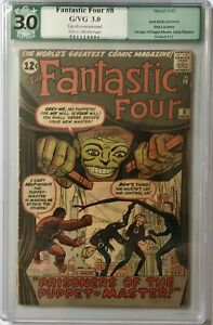 FANTASTIC FOUR #8 - PGX G/VG (3.0) R 1ST APPEARANCE OF PUPPET MASTER (CENTS) CGC