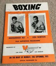 More details for 1973 uk viewsport programme muhammad ali v ken norton, signed lovelace watkins