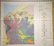 Usgs Garfield Utah Geologic Map Salt Lake & Tooele Counties Large Colorful 1971