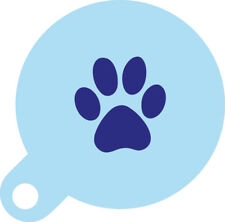 Paw Print Cookie Cupcake Stencil 7cm Diameter Food Safe Washable and Reusable