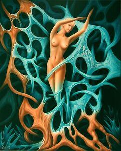 Airbrush Acryl Bild groß Fesseln Gemälde Kunst Malerei Jannys ART