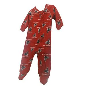 Atlanta Falcons Official NFL Baby Infant Size Pajama Sleeper Bodysuit New Tags