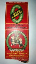 "RARE OLD Vintage ""CAMDEN BEER."". matchbook.MADE IN USA"