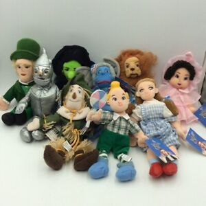 Wizard of Oz Warner Brother Beanie 1998 Dorothy Tinman Lion Witch West Lot 9 New