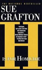 Sue Grafton H is for Homicide Mystery Fast-Paced Action Novel 1992 Paperback USA
