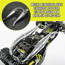 Metal Bilateral Side exhaust pipe for 1/5 hpi rovan km baja 5b ss rc car