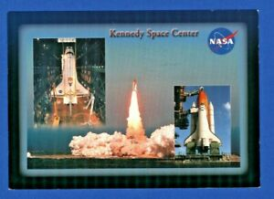 Postcard NASA Kennedy Space Center Solid Boosters Thrust Shuttle Liftoff. E1