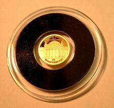 Reichstag Bundestag Berlin Tansania 1.500 Shillings 2019 PP Gold 999 Ø11mm 1/2g
