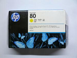 Original HP 80 yellow gelb C4848A 350ml DesignJet 1000 1050 1055 OVP 27/09/2016