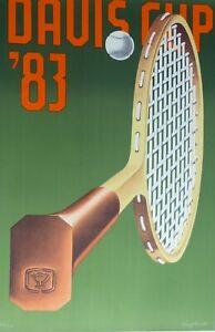 "KONRAD KLAPHECK ""Davis Cup"" 1983 HAND SIGNED Lithograph numbered 78/150 German"