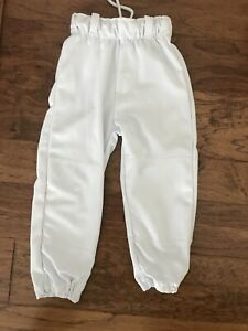 Youth Small Boys White Baseball Pants Size YS Youth Small
