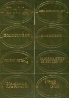 James Bond 50th Anniversary Series One Gold Plaque Chase Card Set 11 Cards