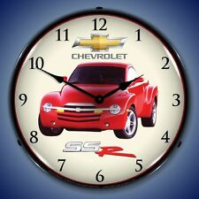 New in box Chevrolet SSR car LIGHTED advertising clock American Made Free Ship