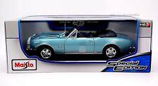 Maisto 1967 Chevrolet Camaro Convertible RS SS 396 1:18 Metal Die Cast MPN 46629