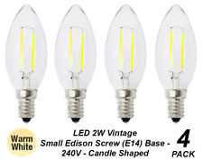 4 x LED 2W Vintage Candle Filament Light Globes Bulbs Lamps E14 Small Screw Warm