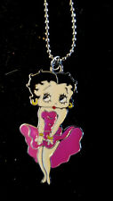 Magenta Sexy Ohh LaLa Dress Betty Boop Chained charm Monroe stance Necklace